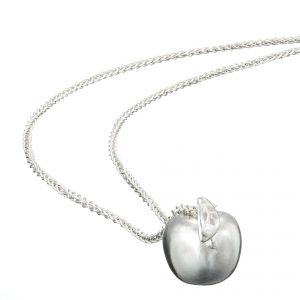 Sterling silver apple of my eye pendant