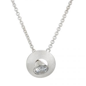 Sterling Silver Pendant Cone Peg In A Round Hole