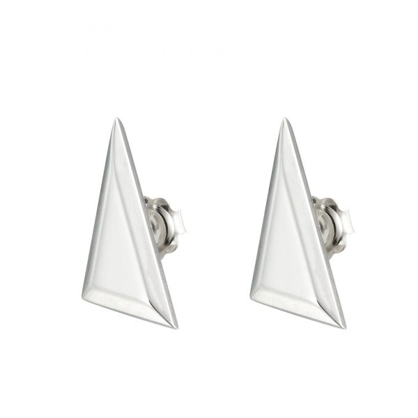 sterling silver native Indian Triangle stud earrings