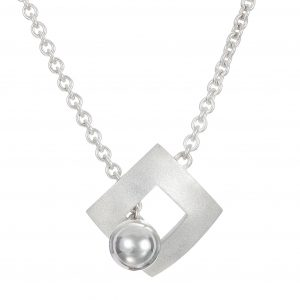 Sterling Silver Pendant Sphere Peg in a Square Hole