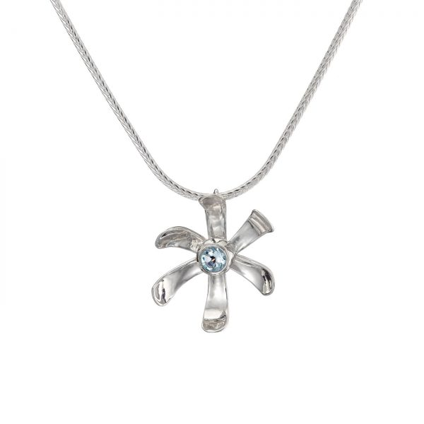 Sterling Silver Medium Daisy Pendant
