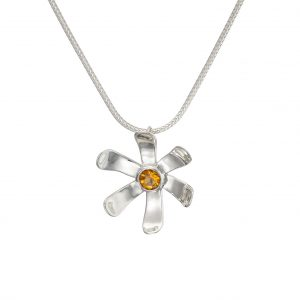 Sterling Silver Large Daisy Pendant
