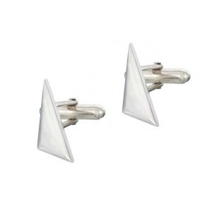 sterling silver native Indian triangle cufflinks
