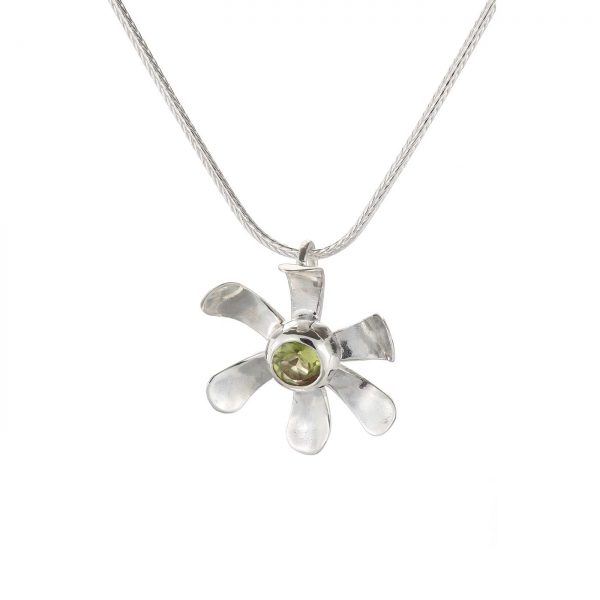 Sterling Silver Small Daisy Pendant